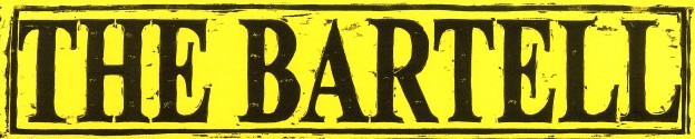 The Bartell Theatre logo, a stylized display of the words The Bartell.