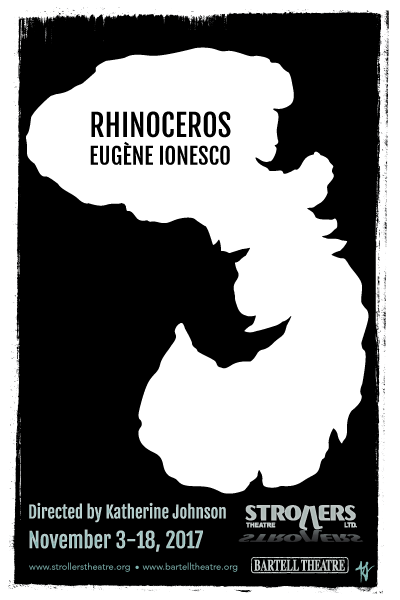 Poster for Strollers Theatre Production of Rhinoceros