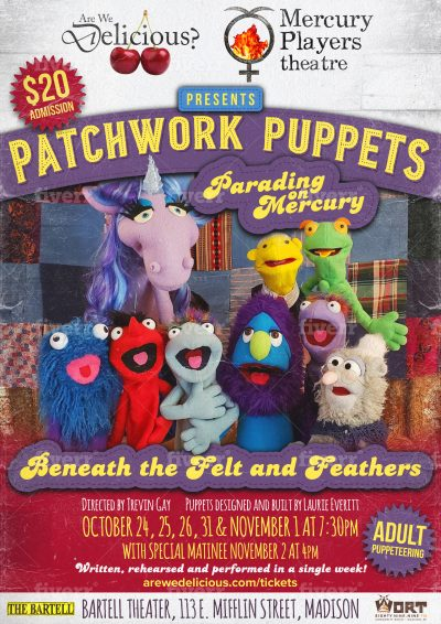 Patchwork Puppets Parading on Mercury, Poster